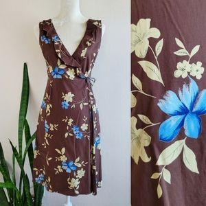 Philosophy di Alberta Ferretti Floral Wrap Dress